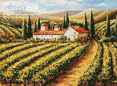 cross stitch pattern Toscana Vineyard