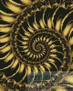 cross stitch pattern Mini Fractal Spiral 2