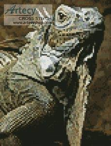 cross stitch pattern Mini Iguana