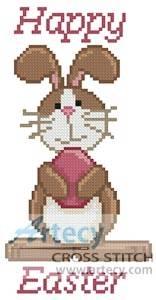 cross stitch pattern Mini Happy Easter 2