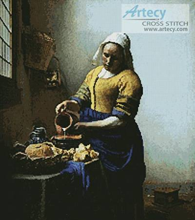 cross stitch pattern Milkmaid