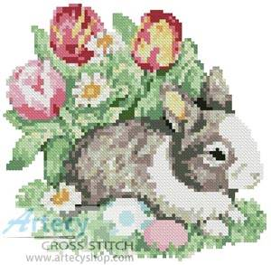 cross stitch pattern Mini Easter Bunny