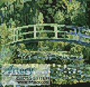 cross stitch pattern Mini The Japanese Bridge