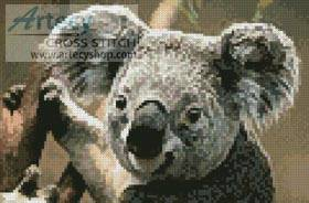 cross stitch pattern Mini Koala Portrait