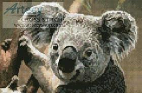 cross stitch pattern Mini Koala Portrait