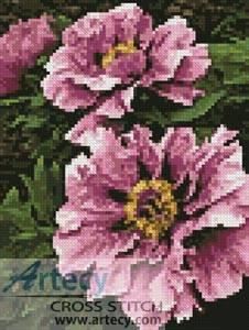 cross stitch pattern Mini Pink Petals