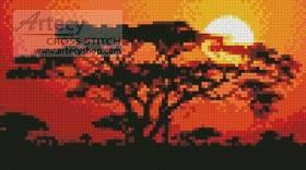 cross stitch pattern Mini Sunrise in Kenya