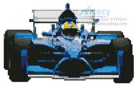 cross stitch pattern Mini Racing Car