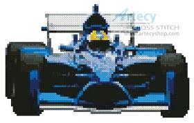 cross stitch pattern Mini Racing Car