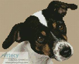 cross stitch pattern Mini Fox Terrier Puppy