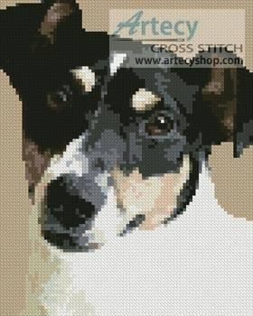 cross stitch pattern Mini Fox Terrier 2
