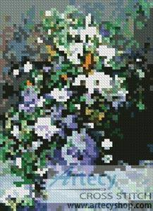cross stitch pattern Mini Great Vase of Flowers