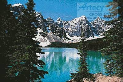 cross stitch pattern Mountain Lake