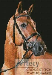 cross stitch pattern Mini Portrait of a Brown Horse