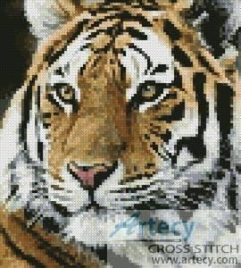 cross stitch pattern Mini Siberian Tiger