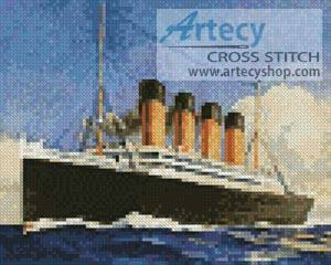 cross stitch pattern Mini Titanic 2