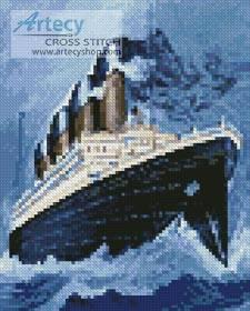 cross stitch pattern Mini Titanic