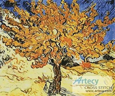 cross stitch pattern Mulberry Tree