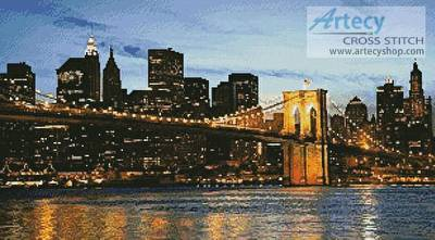 cross stitch pattern New York Skyline