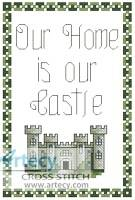 cross stitch pattern Our Home is Our Castle