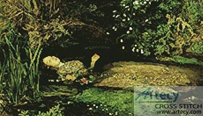 cross stitch pattern Ophelia 3