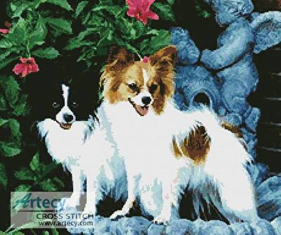 cross stitch pattern Papillons 1