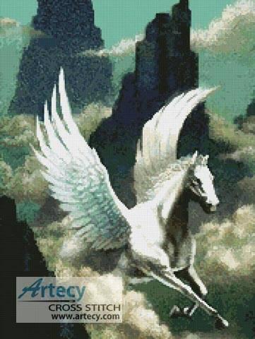 cross stitch pattern Pegasus 3