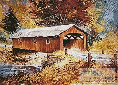 cross stitch pattern The Road Home