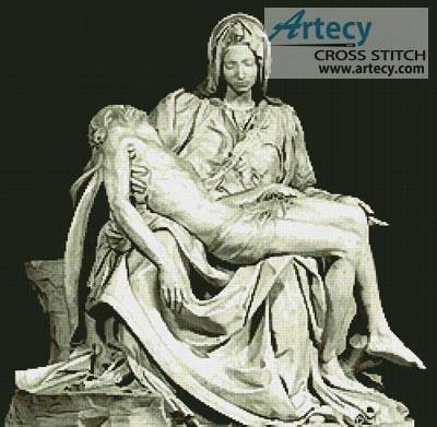 cross stitch pattern Pieta