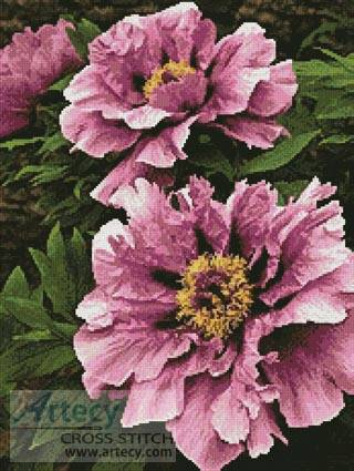 cross stitch pattern Pink Petals