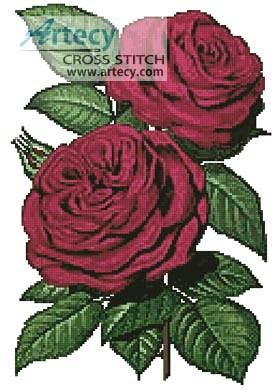cross stitch pattern Pink Roses 5