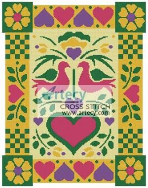 cross stitch pattern Pennsylvania Dutch Pattern