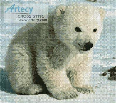 cross stitch pattern Polar Bear Cub