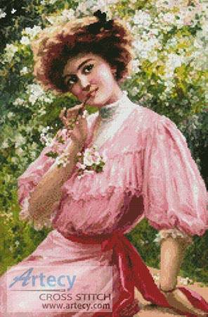 cross stitch pattern Pretty in Pink