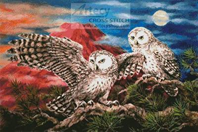cross stitch pattern Pair of Owls