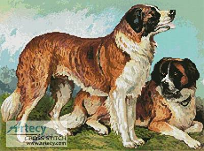 cross stitch pattern Rough Coated St Bernard