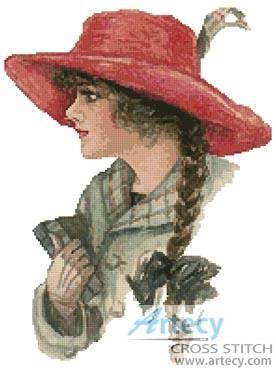 cross stitch pattern Red Hat