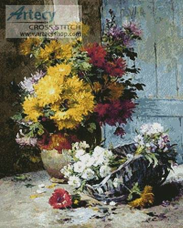 cross stitch pattern Still Life of Summer Flowers