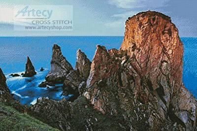cross stitch pattern Rocky Cliffs,Tory Island,Donegal,Ireland