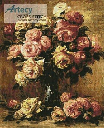cross stitch pattern Roses in a Vase