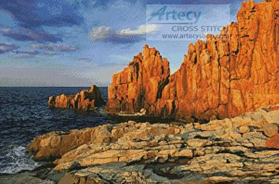 cross stitch pattern Rocky Coast
