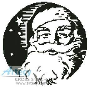 cross stitch pattern Santa's Face 1