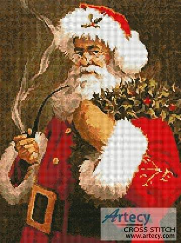 cross stitch pattern Santa