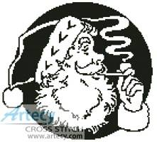 cross stitch pattern Santa's Face 2