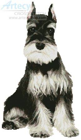 cross stitch pattern Schnauzer 2
