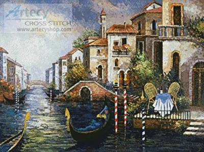 cross stitch pattern Seduced by Venice