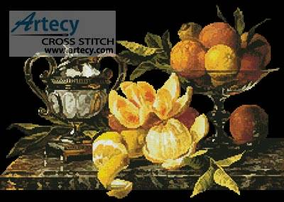 cross stitch pattern Still Life of Oranges and Lemons