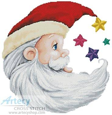 cross stitch pattern Santa Star