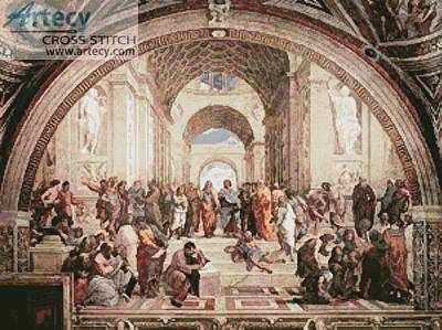 cross stitch pattern School of Athens