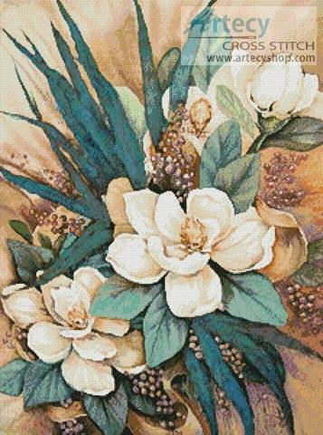 cross stitch pattern Southern Magnolias 2